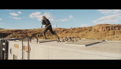 Thomas, Newt and The Right Arm steal the train carriage from WCKD [The Death Cure]