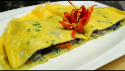 Egg vegetable recipe by easy food recipes - how to make an omelet  easy