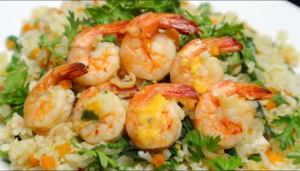 Stir fried white rice with shrimp recipe - shrimp frying recipe