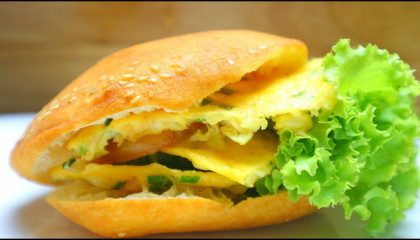 How to make the perfect egg burger - burger recipe  easy food recipes