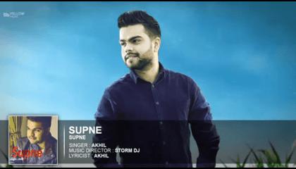 Supne ( Video Song) Akhil