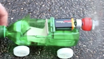 How To Make A Car    Powered Car   Very Simple