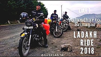 Ladakh Ride  Day 1  Jalandhar to Srinagar
