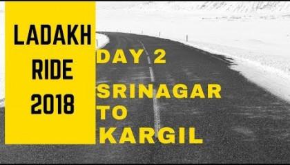 Ladakh Ride Day 2 Srinagar to Kargil  BusyJanta  Sonamarg  Zozila Pass  Zero Point