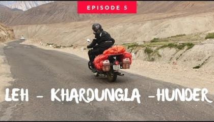 Ladakh Ride  Day 5  Khardung La Top  Khalsar  Diskit  Hunder