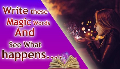 """Write These Magic Words And See What Happens।। Powerful LOVE SPELL """"Magic Word Spell"""""""