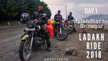 Ladakh Ride - Day 1 - Jalandhar to Srinagar