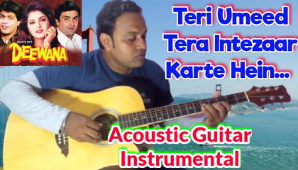 Teri Umeed Tera Intezaar Karte Hein  | Deewana | Acoustic Guitar Instrumental