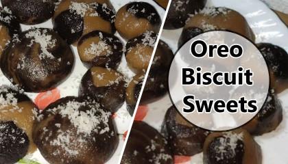 oreo biscuit sweets   mariegold biscuit sweets   स्वादिष्ट मिठाई   oreo biscuit