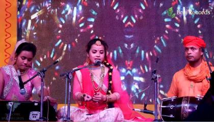 Faag Khelan Aaye Hain... Geet by Pooja @ Falgun Mahotsav Agra 2021 - Raavi Events // BRAJ RECORDS