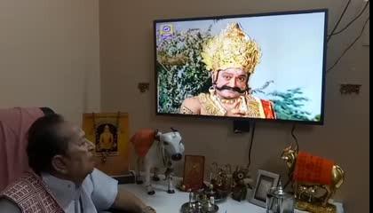 Arvind trivedi watch self roll ravan in Ramayan