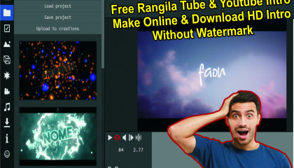 Rangila Tube & Youtube Intro Without Watermark Free Make Online HD