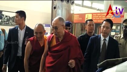 His Holiness the DALAI LAMA At VARANASI Airport