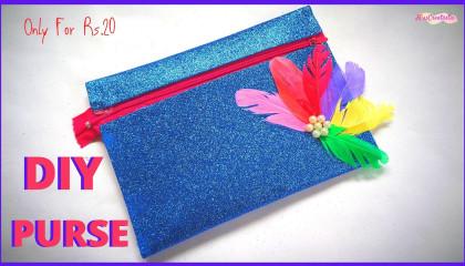 How To Make Purse With Glitter foam Sheet   MissCreatastic