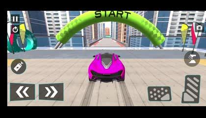 Mega Ramp Car Stunt Races _ Android Gameplay