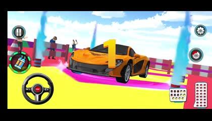 Mega Ramp Spiral Car Stunt Racing Games _ Android Gameplay