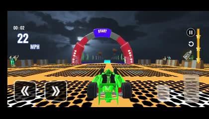 Formula Limo Car Racing Mega Ramps Car Stunts Game _ Android Gameplay