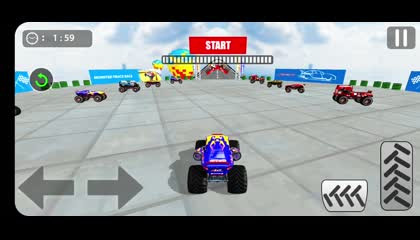 Mega Ramp Monster Lorry Driving Stunts Racing Game _ Android Gameplay