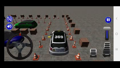 Smart Police Car Parking 3D_ PvP Free Car Games _ Android Gameplay