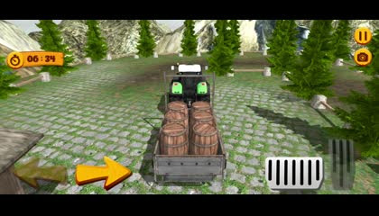 Tractor Trolley Simulator Free Cargo Game 2021 _ Android Gameplay
