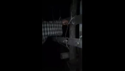 Touching electric wire without any support