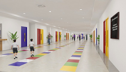 3D Architectural Walkthrough Services for School New Campus Project