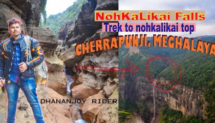 Trekking to the top of Nohkalikai falls Cherapunji #Meghalaya #trekking