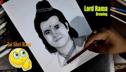 Lord Ram Drawing   Jai Shri Ram   How to draw Lord Ram   Arun Govil  (Ramanand Sagar's Ramayan) Be an artist