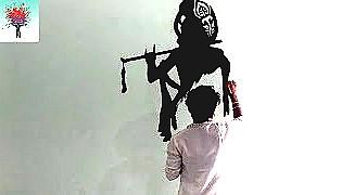 KRISHNA Magical Experience Amazing Lord krishna Wall Art - Be An Artist