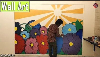 Flower Wall Art   Be An Artist