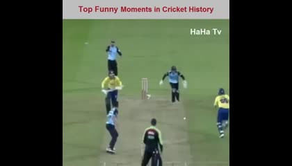 Compilation of Funny moments of cricket
