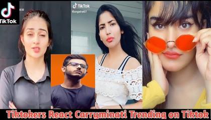 Tiktok React Carry Minati Trending on Tiktok vs Youtuber - TOP FUNNY VIDEO
