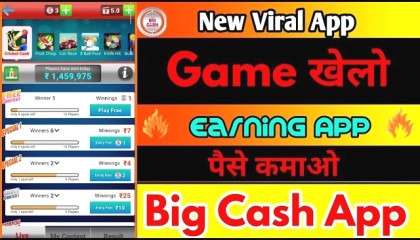Big Cash App Paytm Cash Earning App   Play  Game and Earn unlimited Money 2020 new viral app