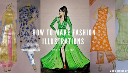 How to draw fashion illustration step -by-step for beginners