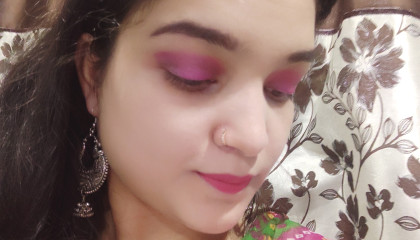 i tried and recreate Corallista mam simple festival makeup look