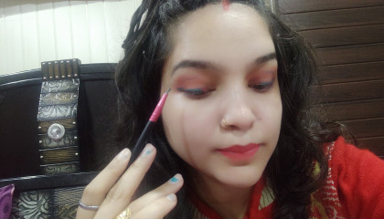 Atoplay send me a gift + how to make colour eyeliner at home  Diy with Anshi