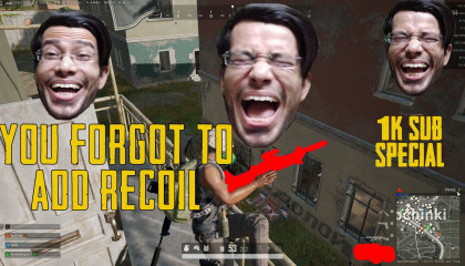 Did PubgPC Forgot to add Recoil to that gun?? 1k Sub Special and thanks to you guys for your support