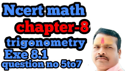 ncert math class-10 exe-8.1 question no 5,6and7 in hindi