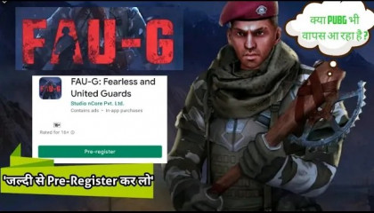 FAUG Game Launch ( Pre Registration )   PUBG Coming Back In India ?