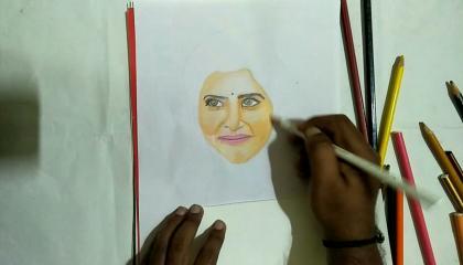 Samantha akhenini heroine drawing