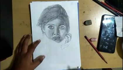 girl child drawing