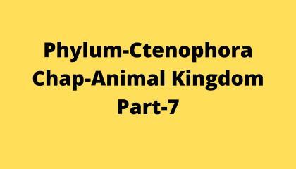 Animal Kingdom Part-7 (Phylum Ctenophora)