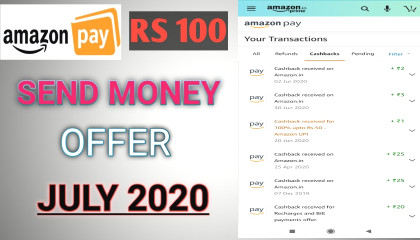 Amazon Pay Rs100 Send Money Offer July 2020 In Hindi