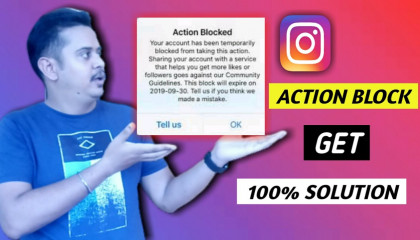 How To Remove Action Blocked On Instagram   Instagram Action Blocked   Fix Instagram Action Block   Guaranteed Solution!