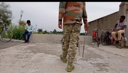 Army nunchaku fight