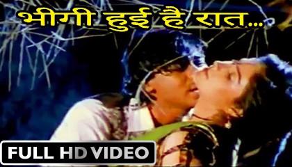 Bheegi Hui Hai Raat Magar  Kumar Sanu, Kavita Krishnamurthy  Sangram 1993 Rain