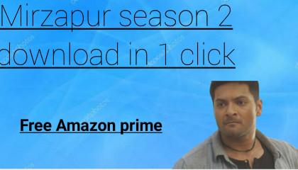 Mirzapur season 2 download link|Free mirzapur season2 link