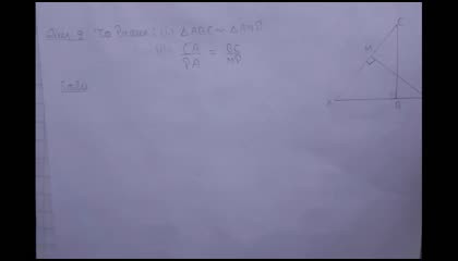 Class 10 Maths ch-6 Ex 6.3 Question 9 Solved... Full Explanation