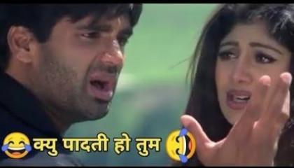 क्यूँ पदती हो तुम   Funny Dubbing Song   Sunil Shetty   Ak Aakash