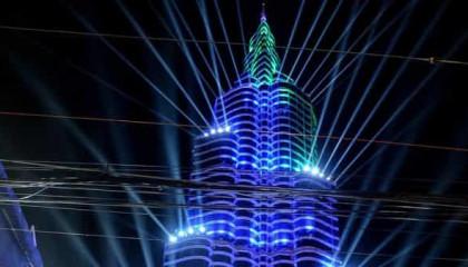 Kolkata Durga Puja Pandel Lighting